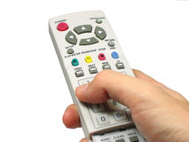 Hand Holding A Remote Royalty Free Stock Photo