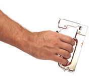 Free Hand Holding A Stapler Stock Image - 26705391