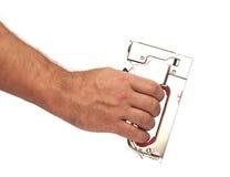 Hand Holding A Stapler Stock Image