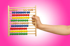 Hand holding abacus Royalty Free Stock Photo