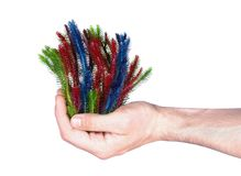 Hand holding abstract genetic modified plant stock photography