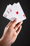 Hand holding Aces Royalty Free Stock Photo