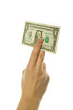 Hand holding American dollar Royalty Free Stock Photo