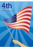 Hand holding American flag Stock Photos