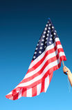 Hand holding american flag Royalty Free Stock Photo