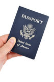 Hand Holding an American Passport Stock Photos