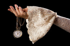Hand holding antique watch Royalty Free Stock Photo