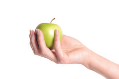 Hand holding an apple Royalty Free Stock Photo