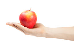 Hand holding apple Royalty Free Stock Photography
