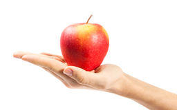 Hand holding apple Royalty Free Stock Photos