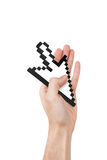 Hand Holding Arrow Cursor Stock Image