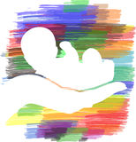 Hand holding baby Royalty Free Stock Images