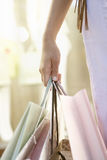 Hand Holding Bags Stock Photos