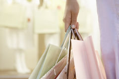 Hand Holding Bags Royalty Free Stock Photos