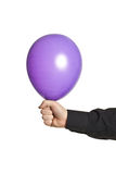 Hand holding baloonn Royalty Free Stock Images
