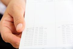 Hand holding bank account book Stock Photo