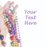 Hand holding beads Royalty Free Stock Photos