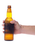 Hand holding beer bottle Stock Photos