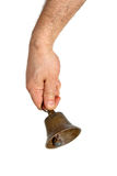 Hand holding bell Royalty Free Stock Image