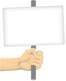 Hand Holding Blank Board Stock Photos