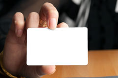 Hand Holding Blank Card Royalty Free Stock Photos