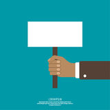 Hand holding a blank placard Royalty Free Stock Photos