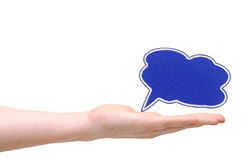 Speech bubble symbol Stock Images