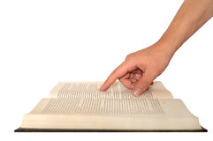 Hand holding book Royalty Free Stock Photo