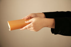 Hand holding book Royalty Free Stock Photography