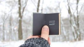 Hello winter idea. stock footage
