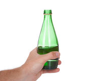 Hand holding a bottle of soda water Royalty Free Stock Image