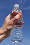 Hand Holding a Bottle of Water Royalty Free Stock Image