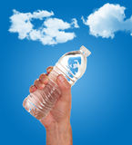 Hand holding a bottle of water Stock Image