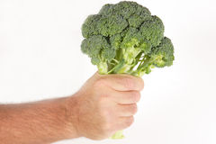 Hand holding brocoli Royalty Free Stock Images