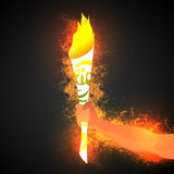 Hand holding Burning Torch for Sports concept. Royalty Free Stock Photography