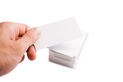 Hand holding business card Royalty Free Stock Photos