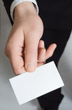 Hand Holding Business Card Royalty Free Stock Images