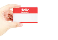 Hand holding business card with royalty free stock photo