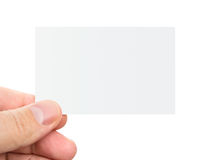 Hand holding business card Stock Image