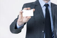 Hand holding business card Royalty Free Stock Photography