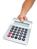 Hand Holding Calculator Stock Photo