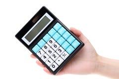 Hand holding calculator Royalty Free Stock Photo