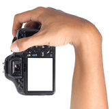 Hand holding camera Royalty Free Stock Images