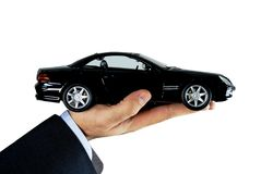 Hand Holding Car Royalty Free Stock Photos