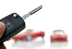 Hand holding car key Royalty Free Stock Image