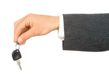 Hand Holding Car Key. Businessman's Hand Holding Car Key Royalty Free Stock Images