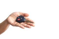 Hand holding car key Royalty Free Stock Photography