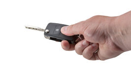 Hand Holding Car Key Royalty Free Stock Photography
