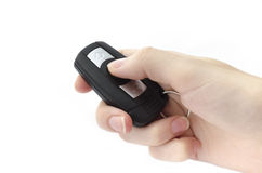 Hand holding a car key Stock Image