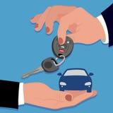 Hand holding car key Royalty Free Stock Image